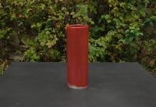 Cylinder vase copper red